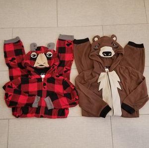 Set of 2 Cuddl Duds onsie jammies size xs 4/5